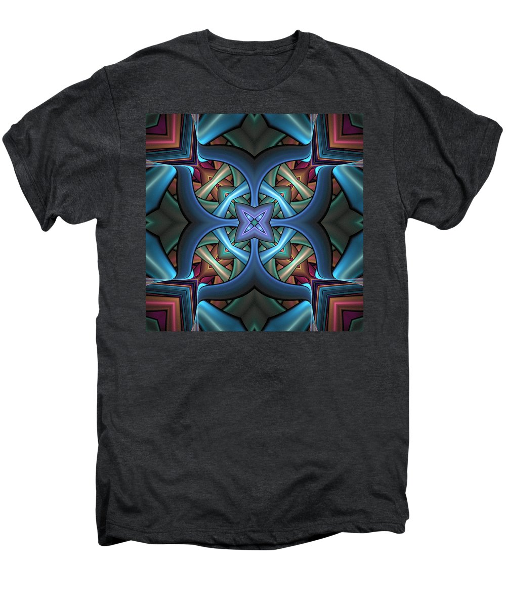 Digital Art Men's Premium T-Shirt featuring the digital art Stacked Kaleidoscope by Amanda Moore