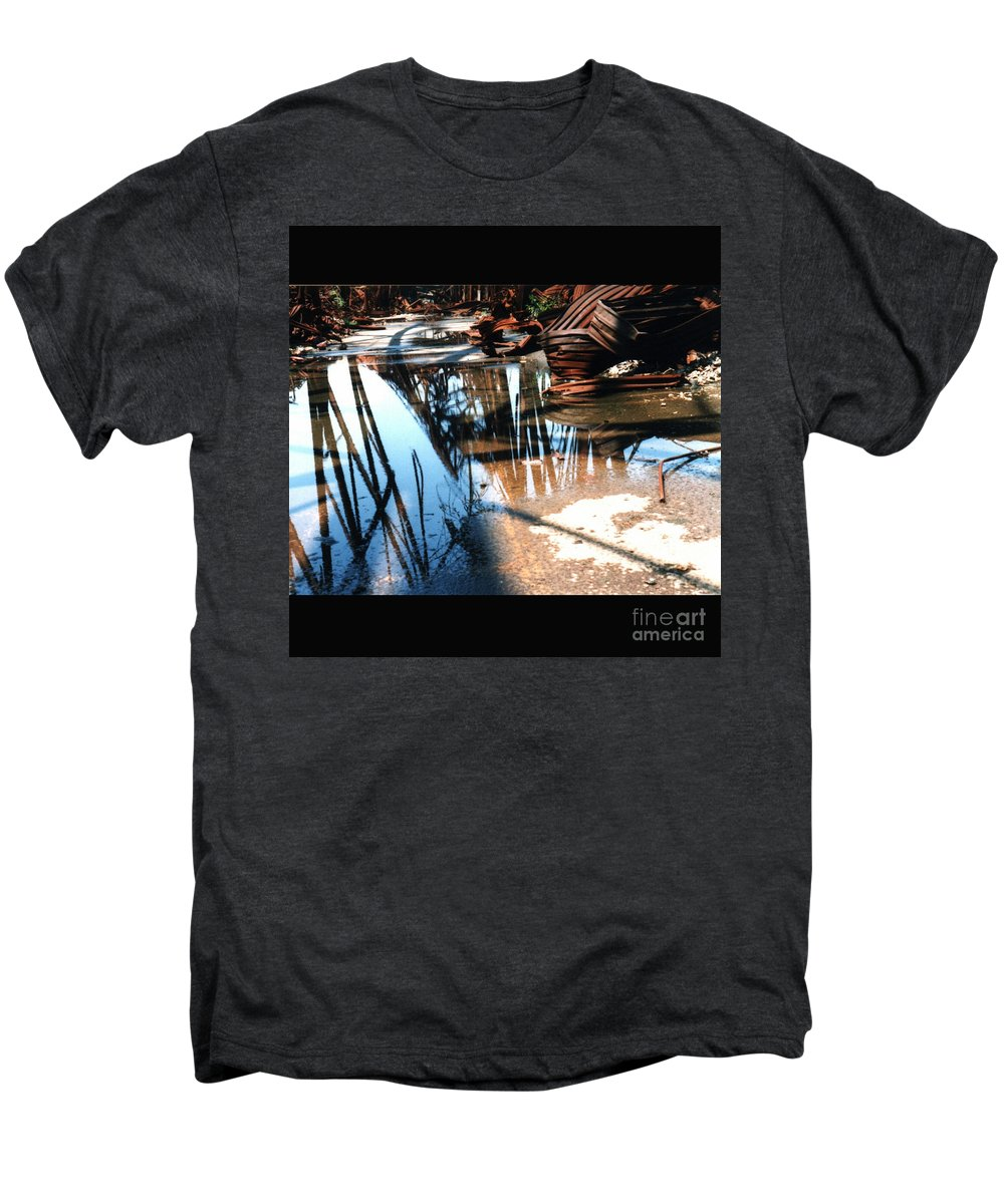 Cityscape Men's Premium T-Shirt featuring the photograph Steel River by Ze DaLuz