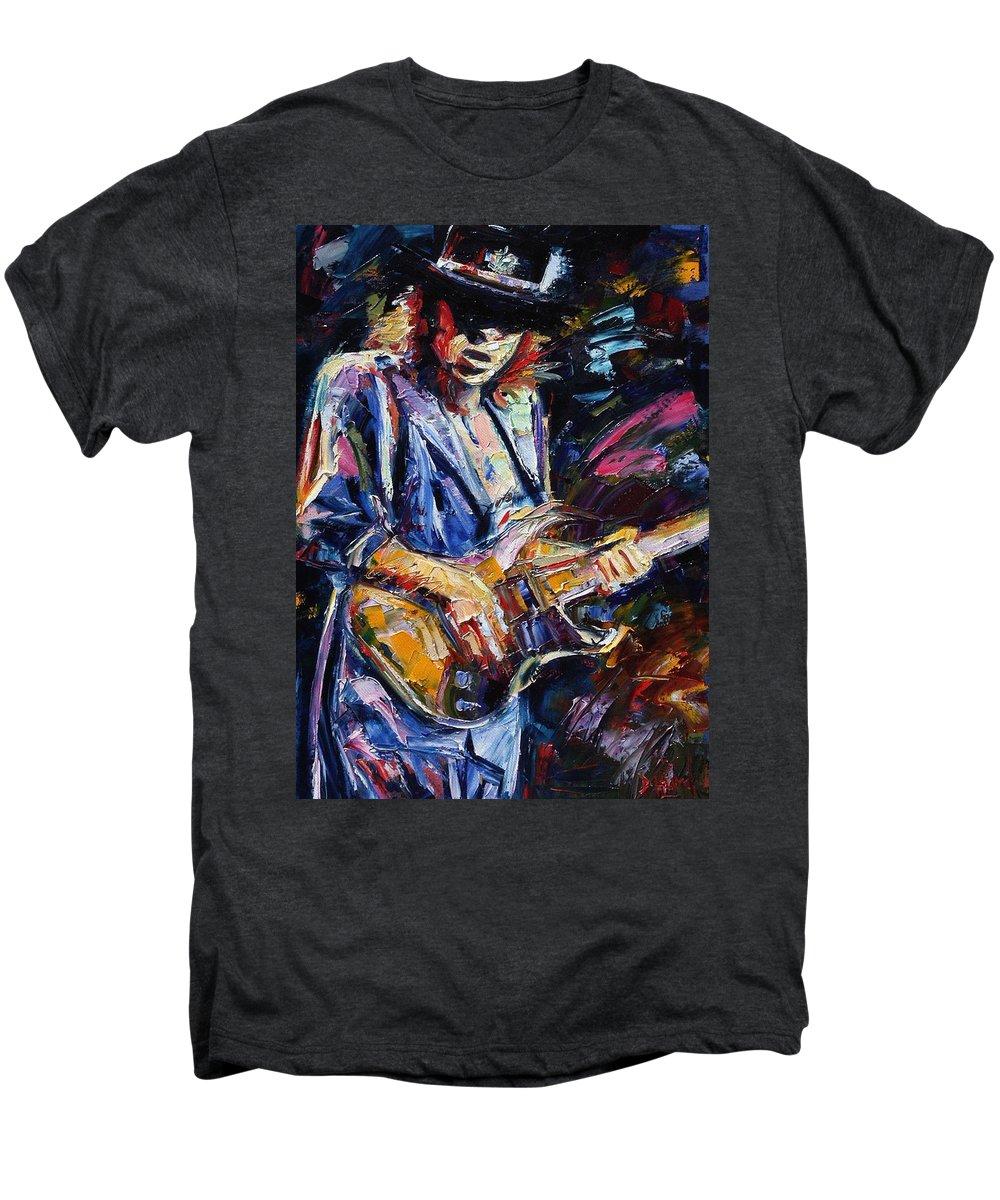 Stevie Ray Vaughan Painting Men's Premium T-Shirt featuring the painting Stevie Ray Vaughan by Debra Hurd