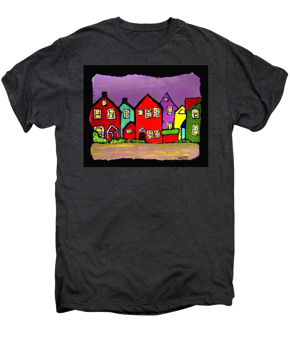 Houses Men's Premium T-Shirt featuring the painting Still Standing by Wayne Potrafka