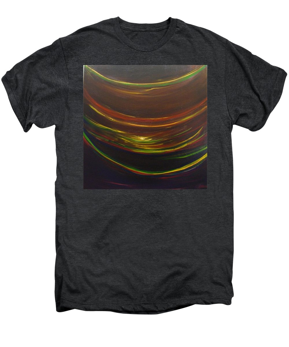 Rainbow Red Yellow Obama Men's Premium T-Shirt featuring the painting Strata Surf by Jack Diamond