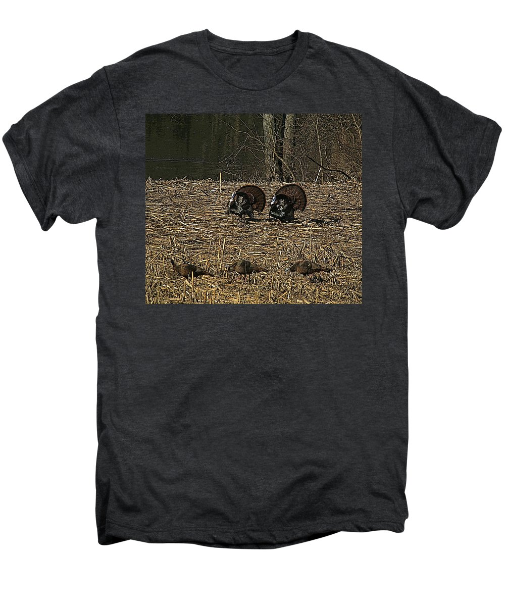 Turkey Men's Premium T-Shirt featuring the photograph Strutin For The Ladies by Robert Pearson