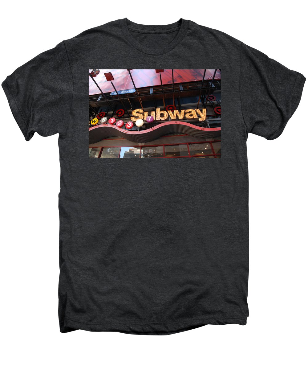 Neon Men's Premium T-Shirt featuring the photograph Subway by Rob Hans