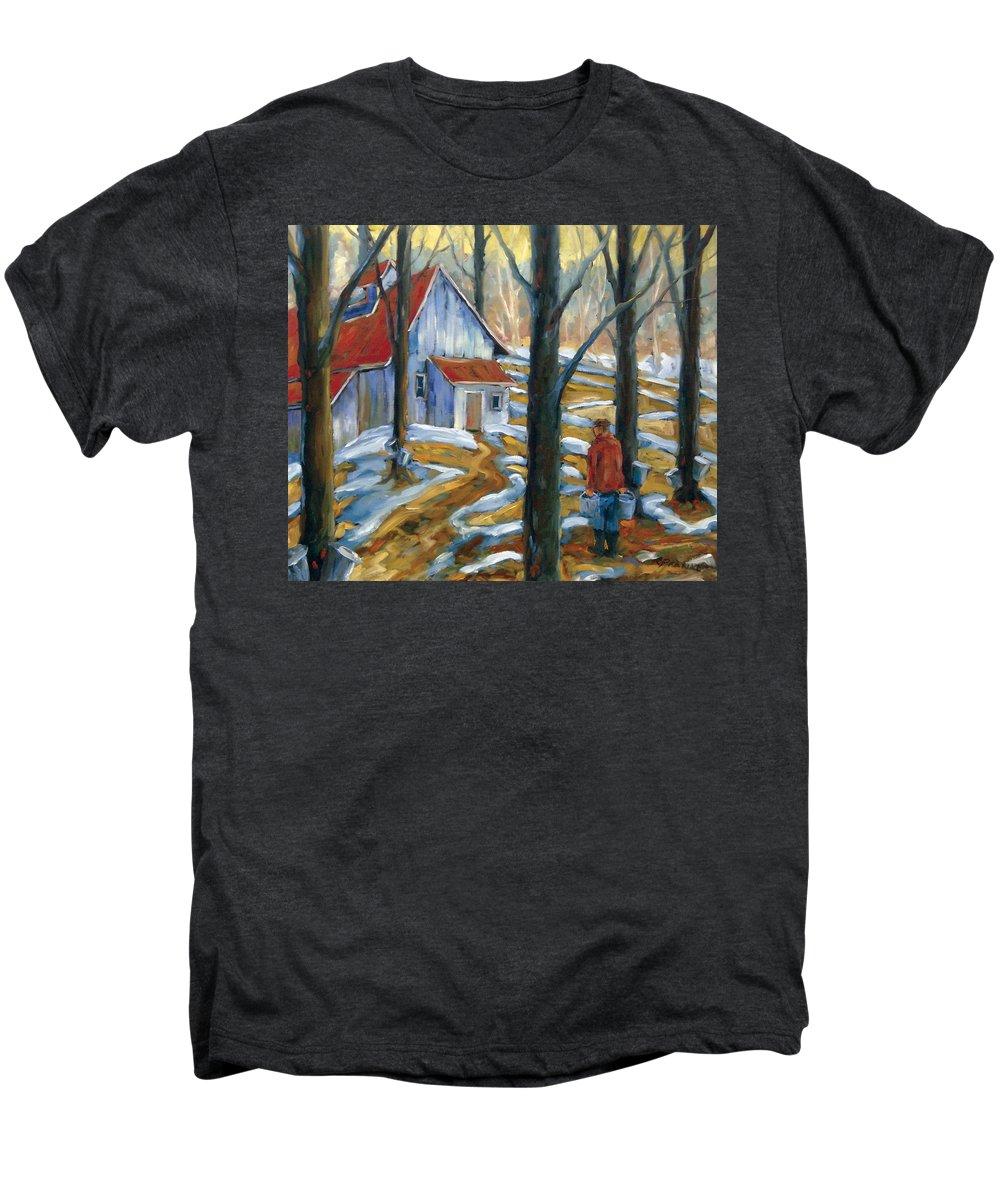 Suga Men's Premium T-Shirt featuring the painting Sugar Bush by Richard T Pranke