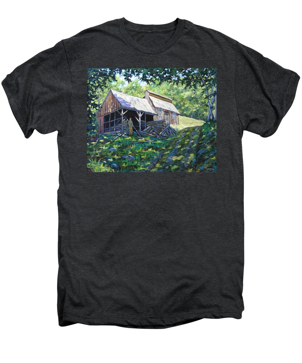 Sugar Shack Men's Premium T-Shirt featuring the painting Sugar Shack In July by Richard T Pranke