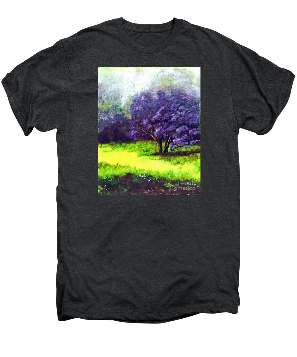 Fine Art Print Men's Premium T-Shirt featuring the painting Summer Mist by Patricia Griffin Brett