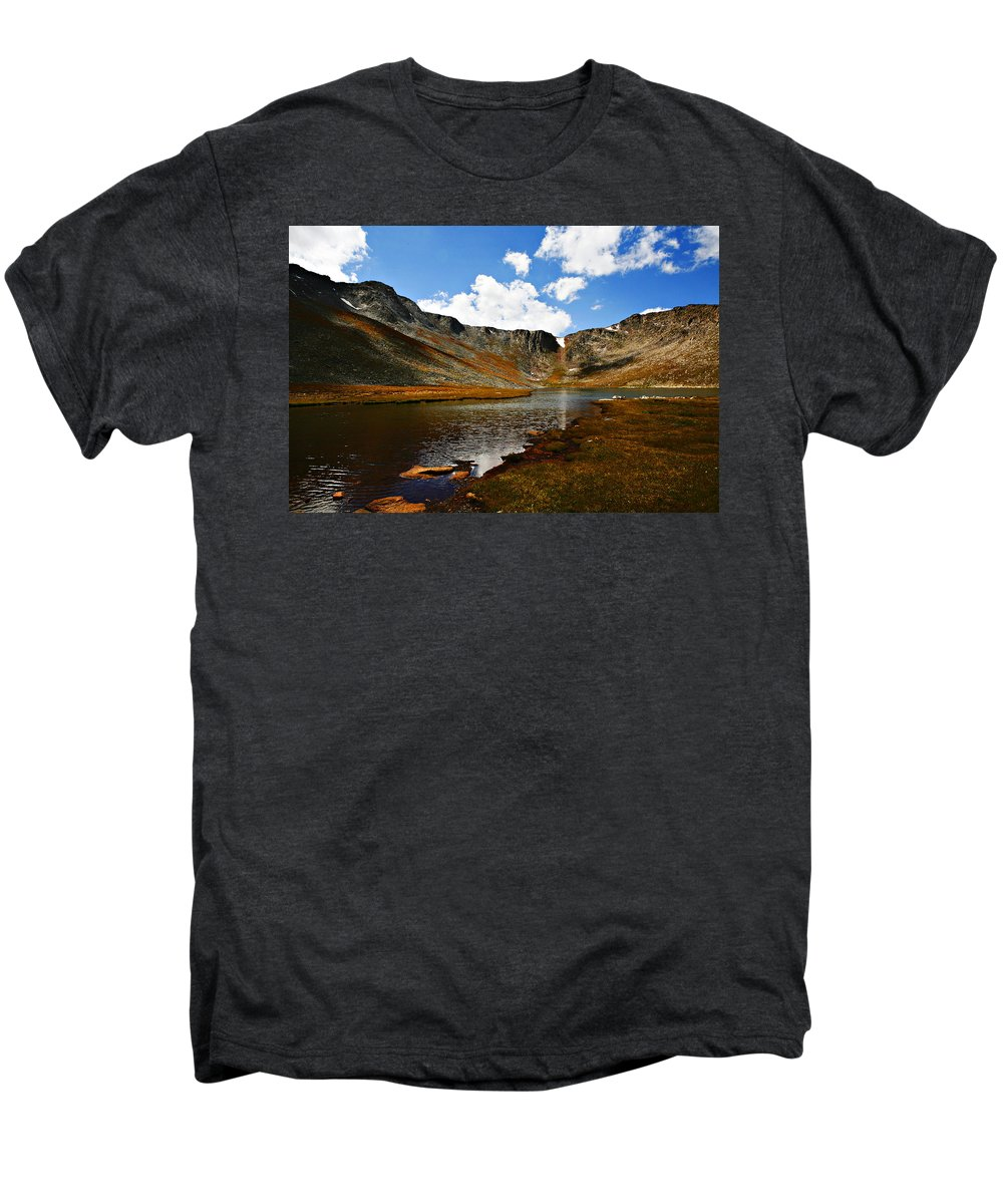 Travel Men's Premium T-Shirt featuring the photograph Summit Lake Colorado by Marilyn Hunt