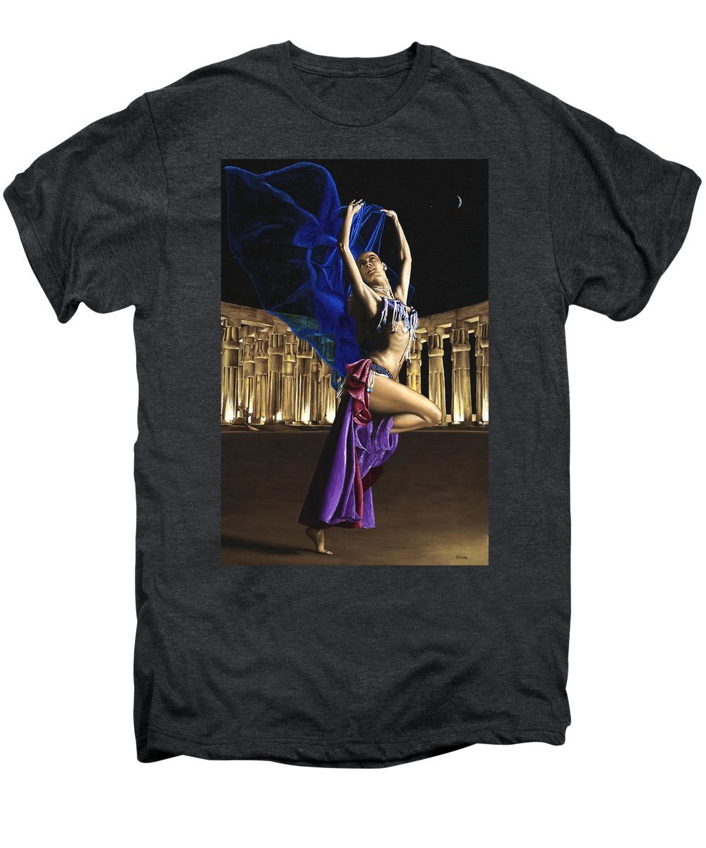 Belly Men's Premium T-Shirt featuring the painting Sun Court Dancer by Richard Young