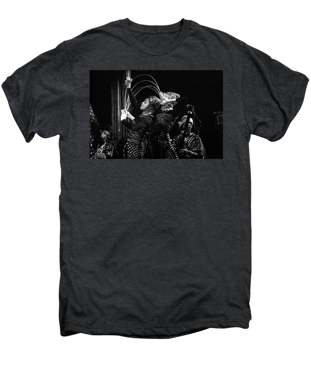 Sun Ra Men's Premium T-Shirt featuring the photograph Sun Ra Arkestra And Dancers by Lee Santa