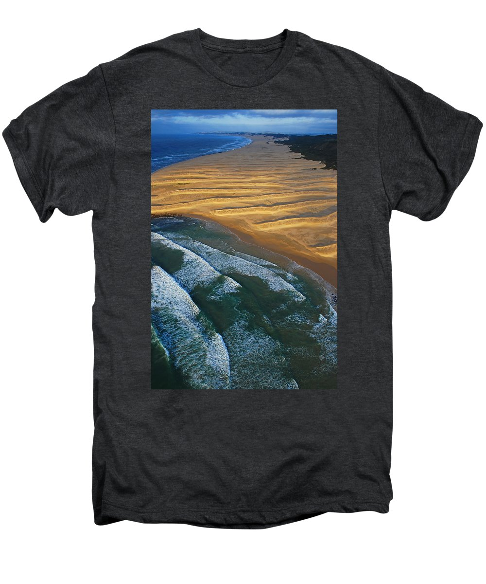 Coast Men's Premium T-Shirt featuring the photograph Sun Rise Coast by Skip Hunt