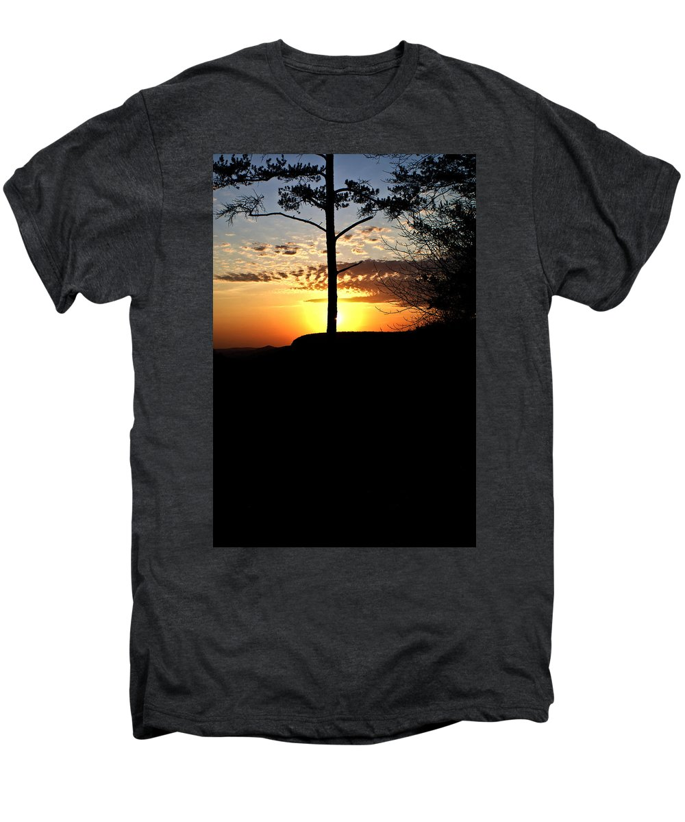 Sunburst Men's Premium T-Shirt featuring the photograph Sunburst Sunset by Douglas Barnett