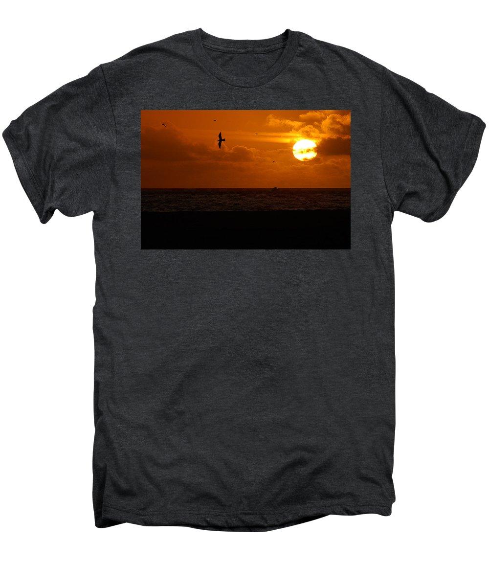 Clay Men's Premium T-Shirt featuring the photograph Sundown Flight by Clayton Bruster