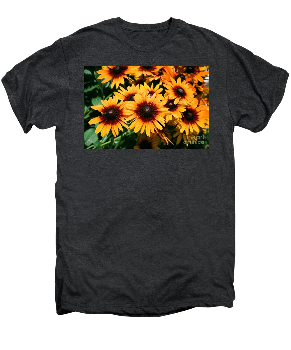Sunflowers Men's Premium T-Shirt featuring the photograph Sunflowers by Dean Triolo
