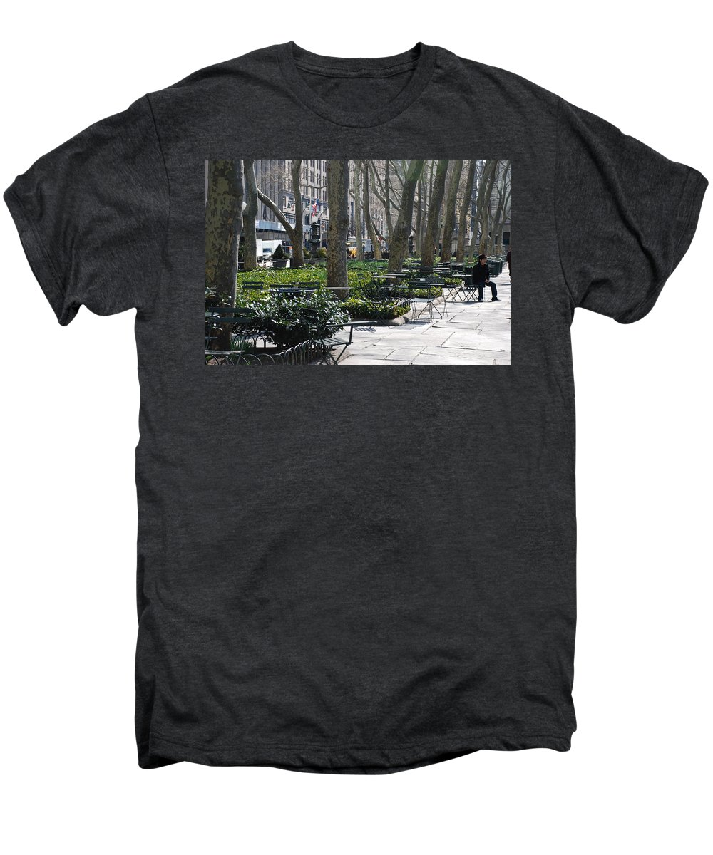 Parks Men's Premium T-Shirt featuring the photograph Sunny Morning In The Park by Rob Hans