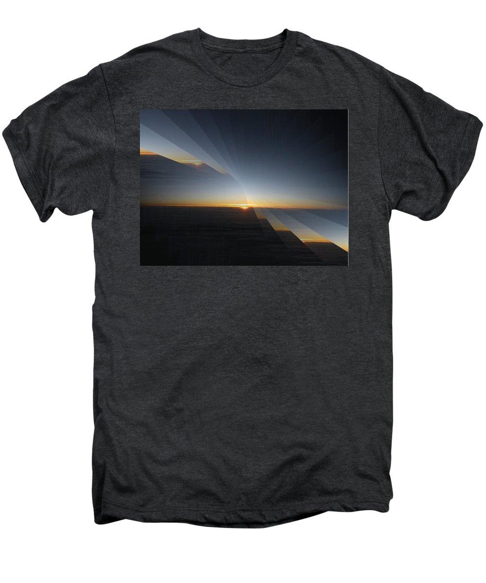 Sunrise Men's Premium T-Shirt featuring the photograph Sunrise At 30k 4 by Tim Allen