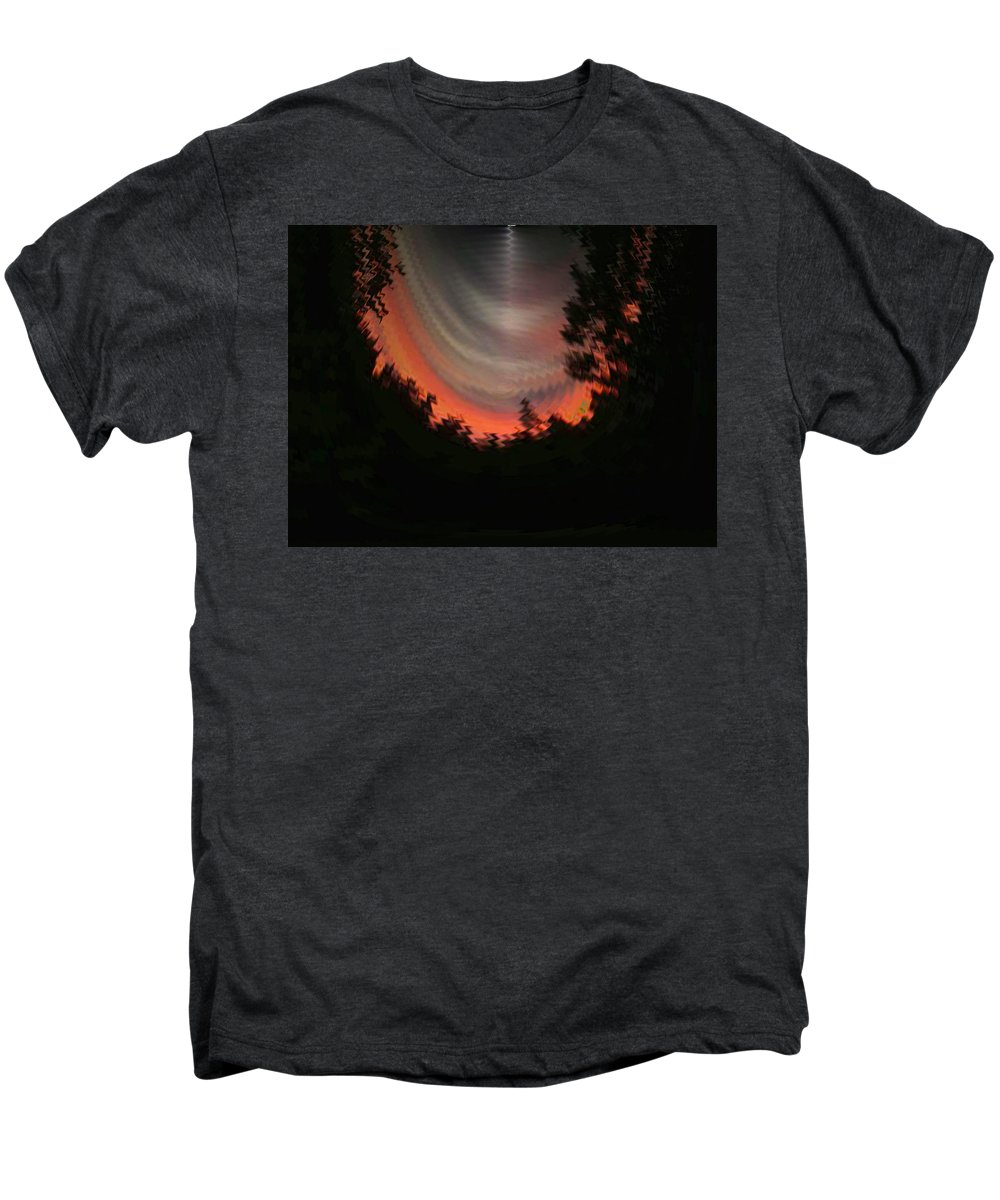 Sunset Men's Premium T-Shirt featuring the digital art Sunset 3 by Tim Allen