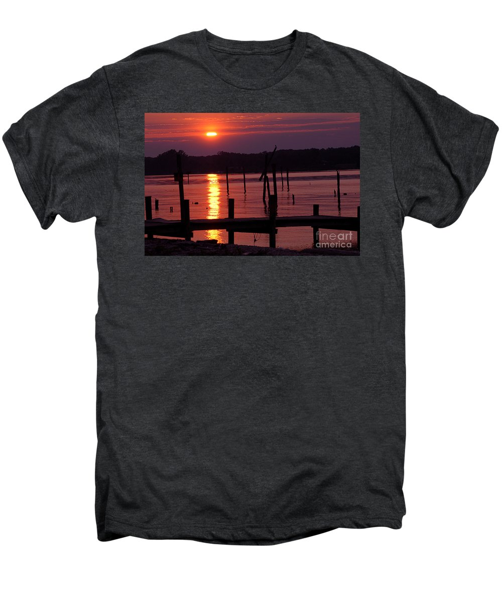 Clay Men's Premium T-Shirt featuring the photograph Sunset At Colonial Beach by Clayton Bruster