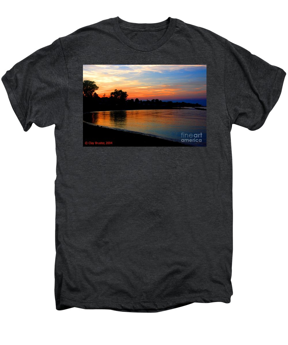 Clay Men's Premium T-Shirt featuring the photograph Sunset At Colonial Beach Cove by Clayton Bruster