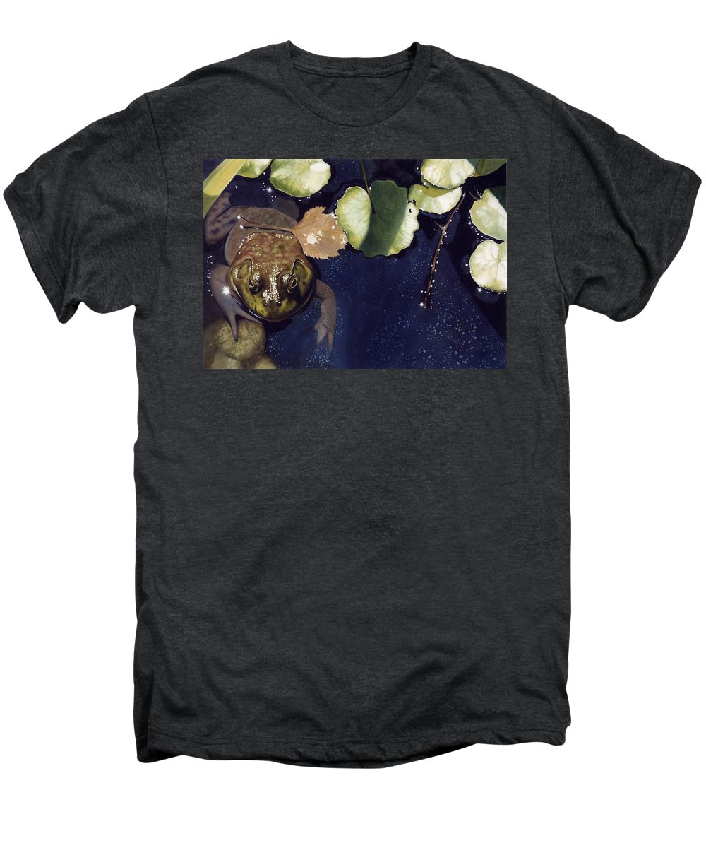 Frog Men's Premium T-Shirt featuring the painting Sunspots by Denny Bond