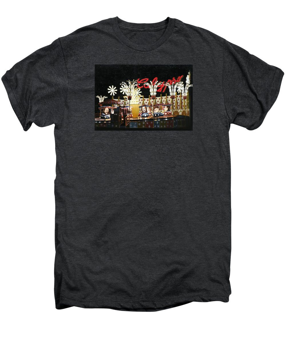 Surreal Men's Premium T-Shirt featuring the painting Surreal Carnival by Dave Martsolf