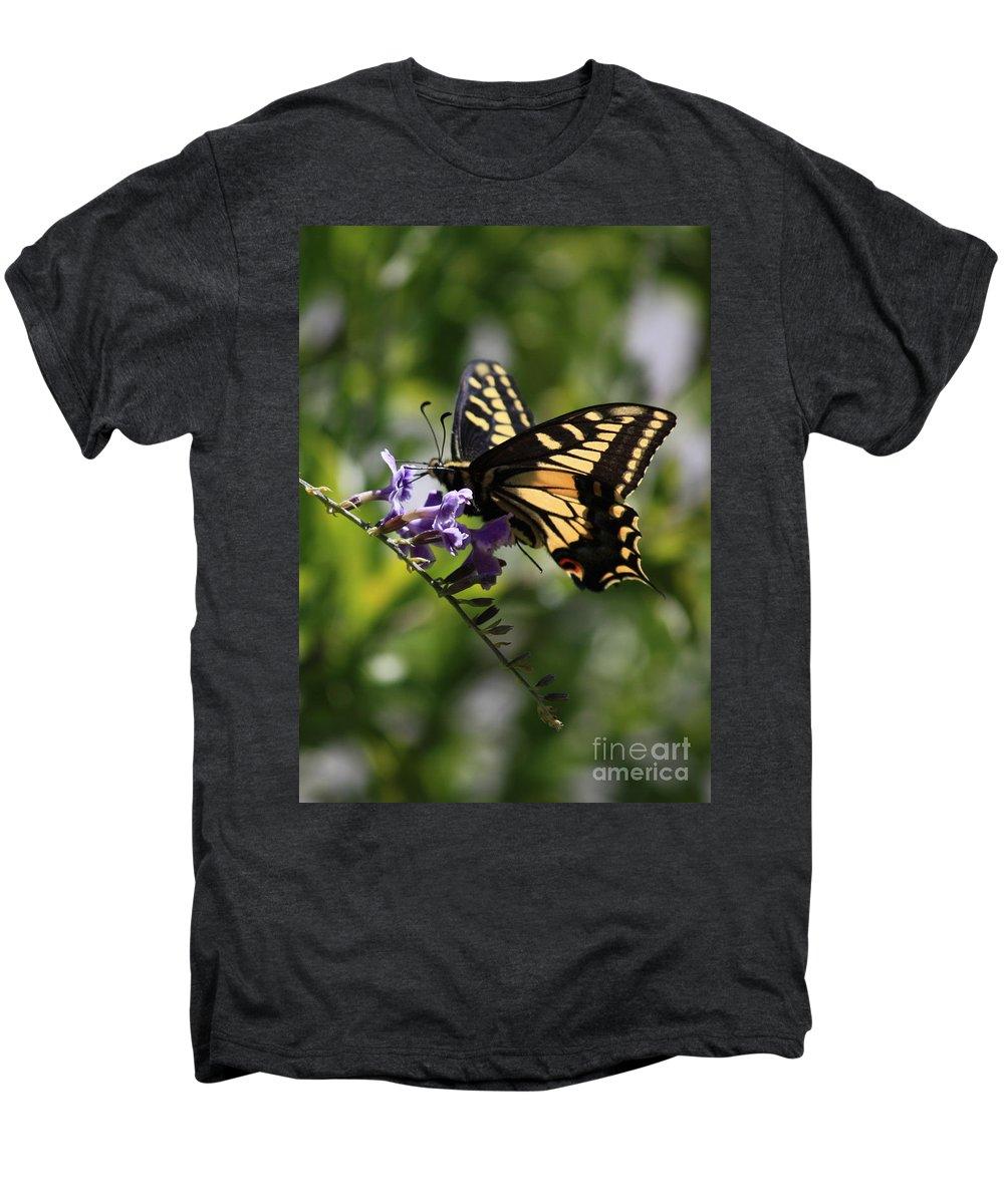 Swallowtail Butterfly Men's Premium T-Shirt featuring the photograph Swallowtail Butterfly 1 by Carol Groenen
