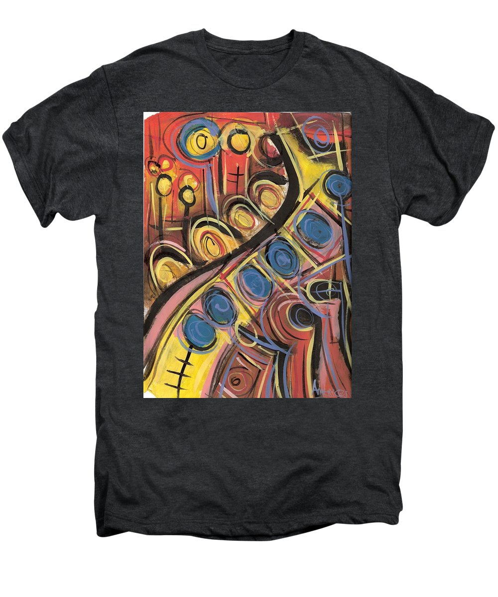 Abstract Painting Men's Premium T-Shirt featuring the painting Sweet Music by Americo Salazar
