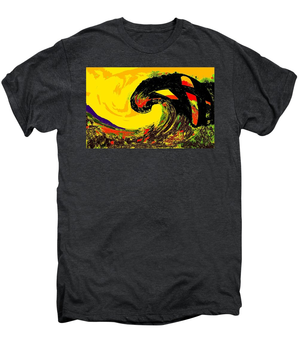 Abstract Men's Premium T-Shirt featuring the photograph Swept Away by Ian MacDonald