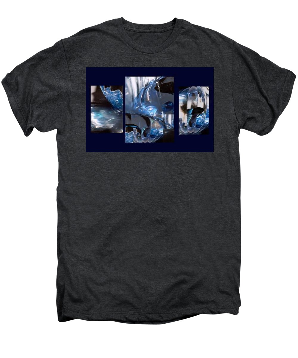 Abstract Of Betta In A Bowl Men's Premium T-Shirt featuring the photograph Swirl by Steve Karol