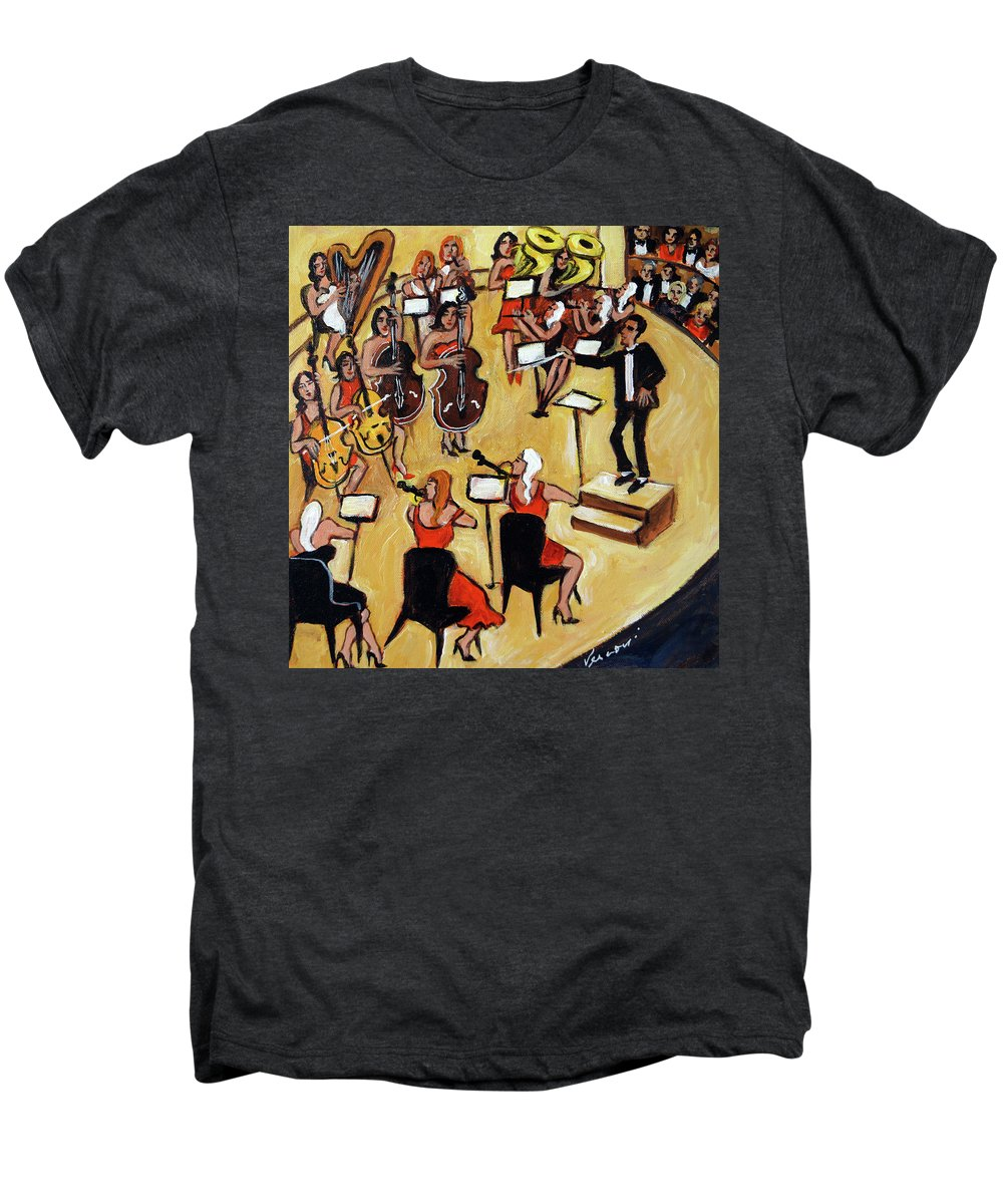 Carnegie Hall Orchestra Men's Premium T-Shirt featuring the painting Symphony by Valerie Vescovi