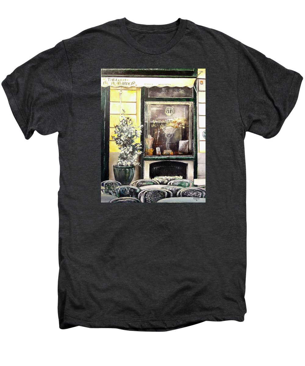 Old Men's Premium T-Shirt featuring the painting Taberna Del Alabardero-madrid by Tomas Castano
