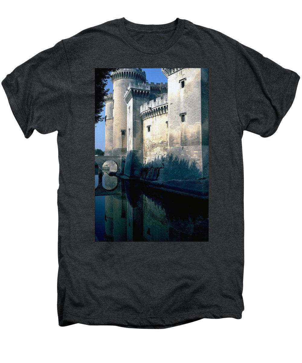 Tarragon France Castle Men's Premium T-Shirt featuring the photograph Tarragon France by Flavia Westerwelle