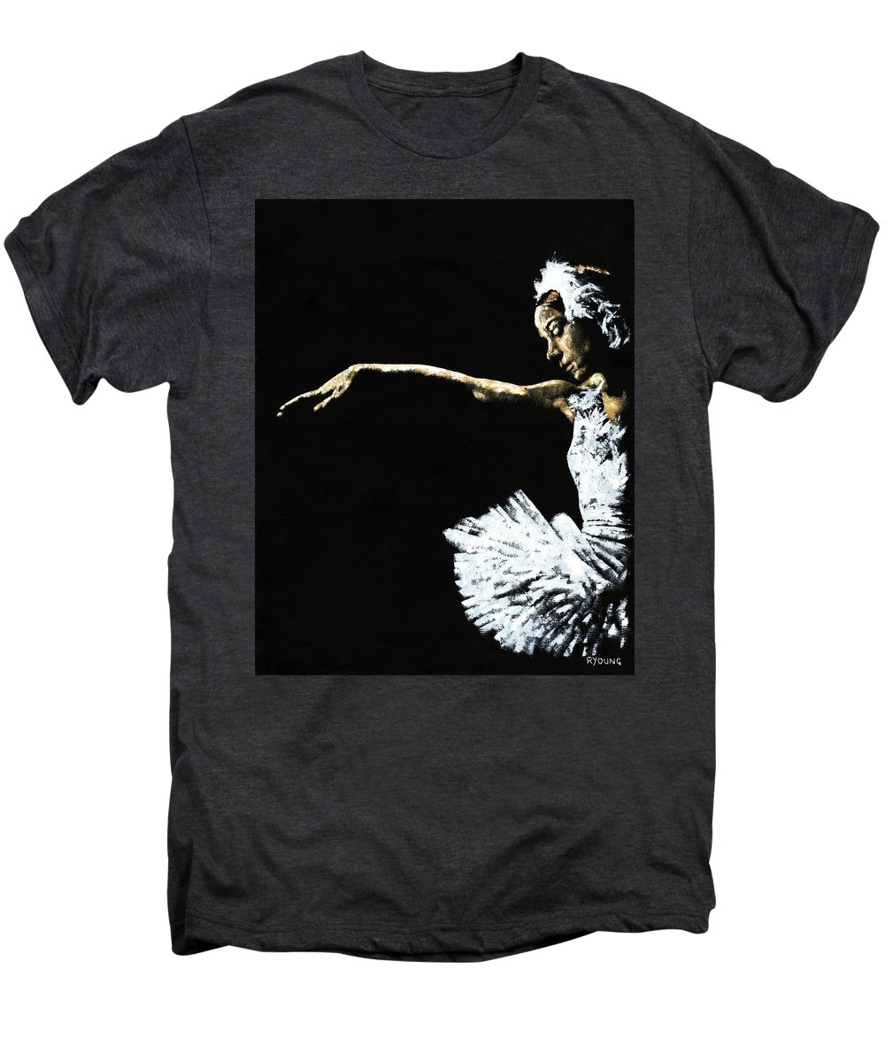 Ballet Men's Premium T-Shirt featuring the painting The Art Of Grace by Richard Young