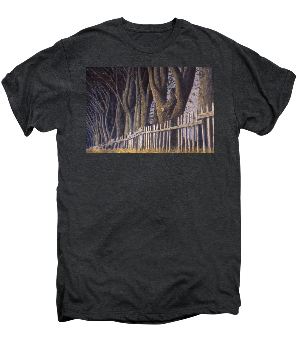Bird House Men's Premium T-Shirt featuring the painting The Bird House by Jerry McElroy