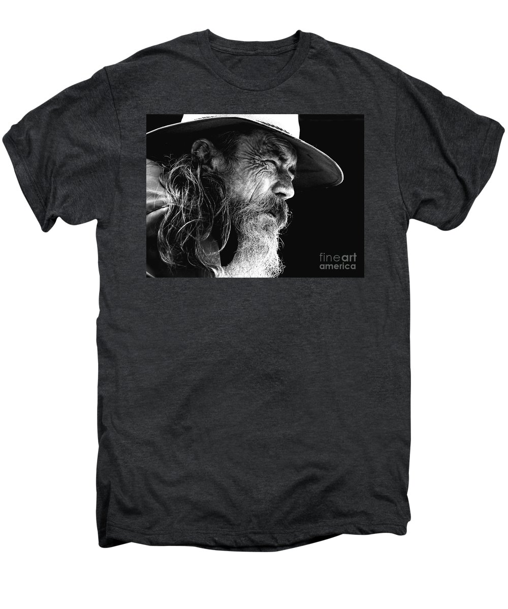 Australian Bushman Hat Men's Premium T-Shirt featuring the photograph The Bushman by Avalon Fine Art Photography