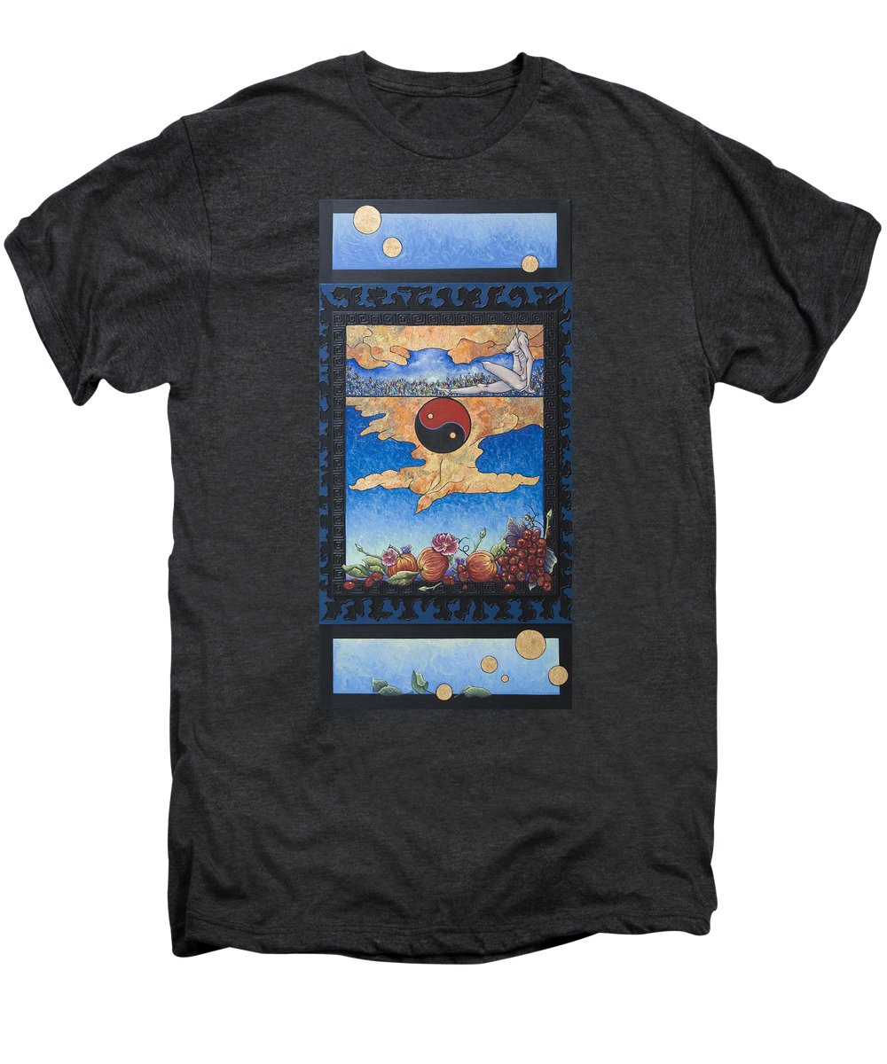 Karma Men's Premium T-Shirt featuring the painting The Dream by Judy Henninger