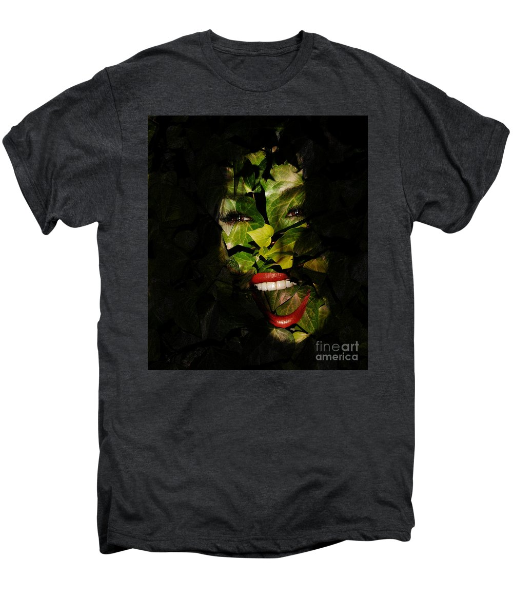 Clay Men's Premium T-Shirt featuring the photograph The Eyes Of Ivy by Clayton Bruster