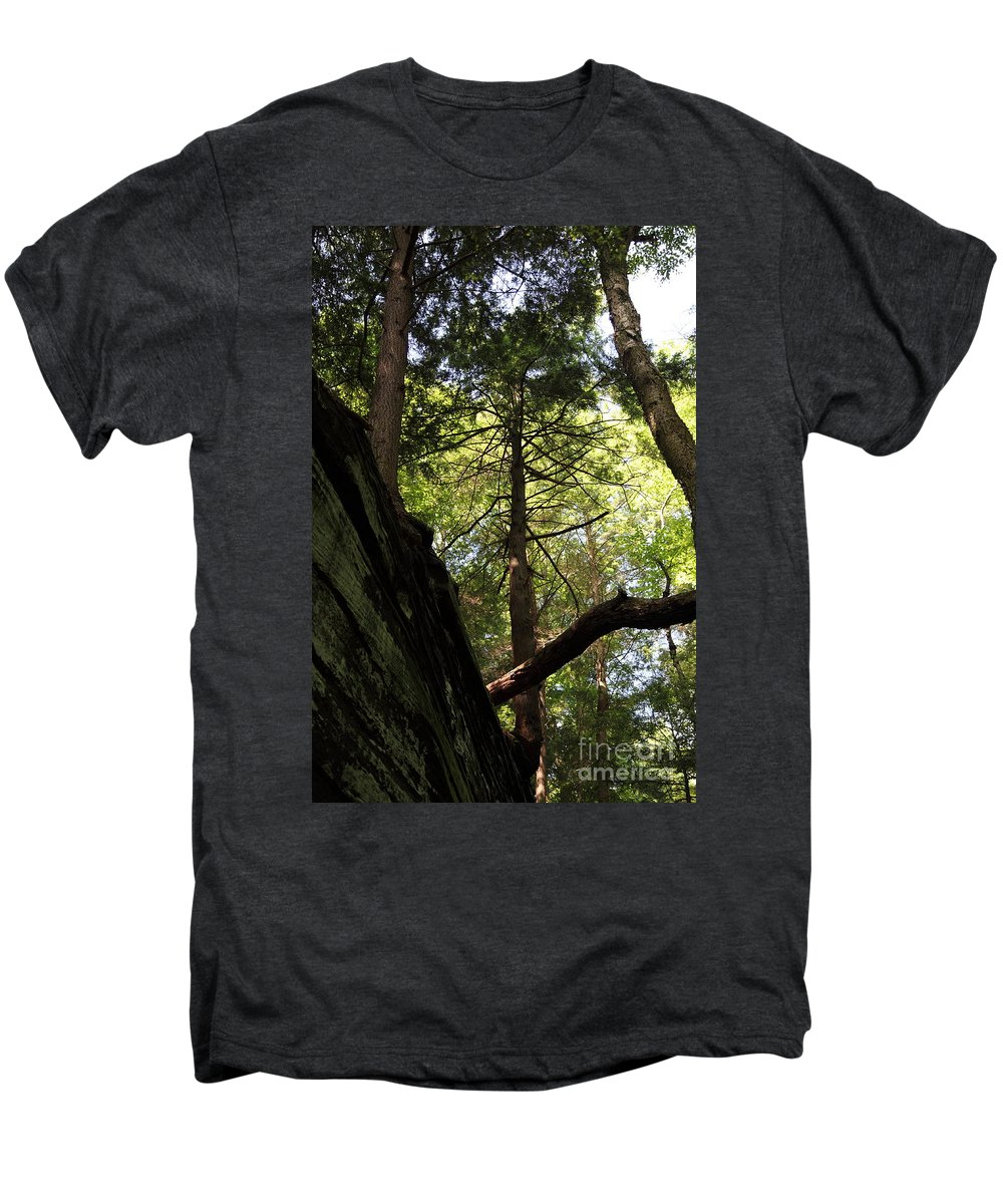 Tree Men's Premium T-Shirt featuring the photograph The Fallen Triangle by Amanda Barcon