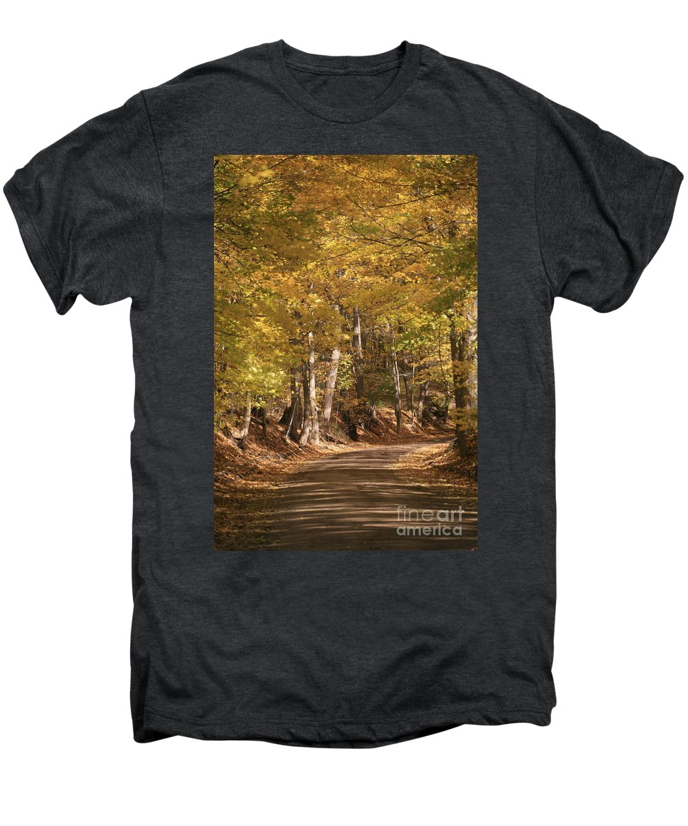 Golden Men's Premium T-Shirt featuring the photograph The Golden Road by Robert Pearson