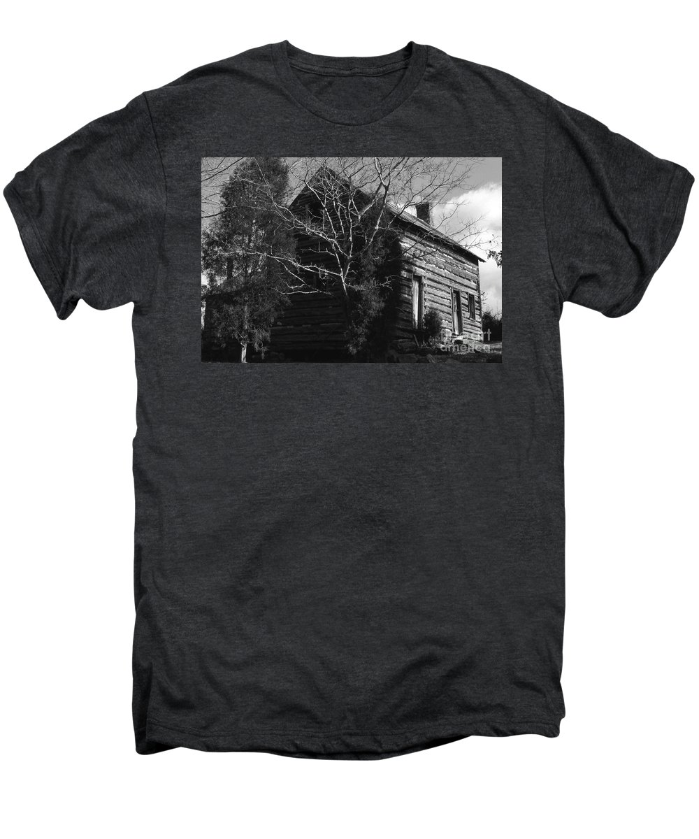 Cabins Men's Premium T-Shirt featuring the photograph The Homestead by Richard Rizzo