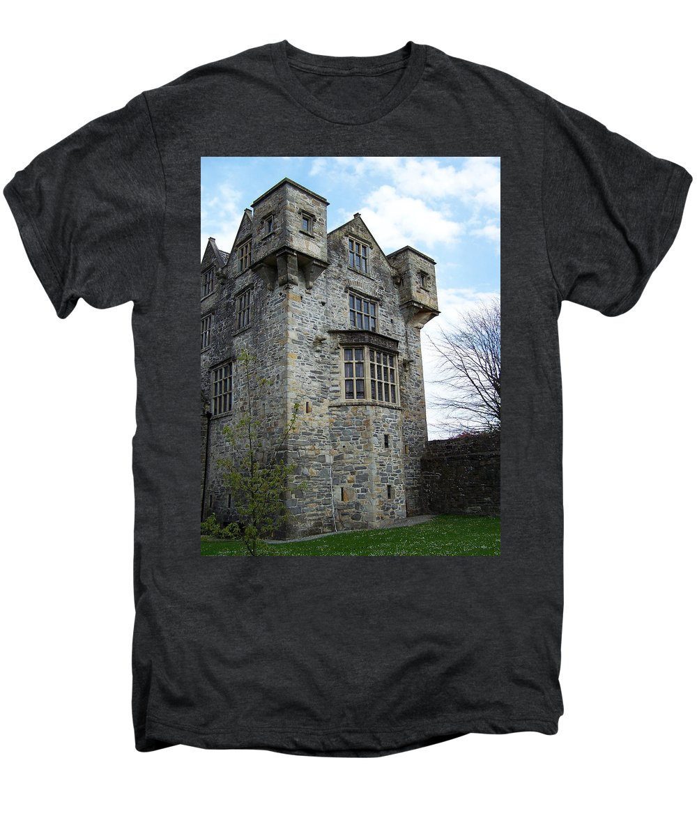 Ireland Men's Premium T-Shirt featuring the photograph The Keep At Donegal Castle Ireland by Teresa Mucha
