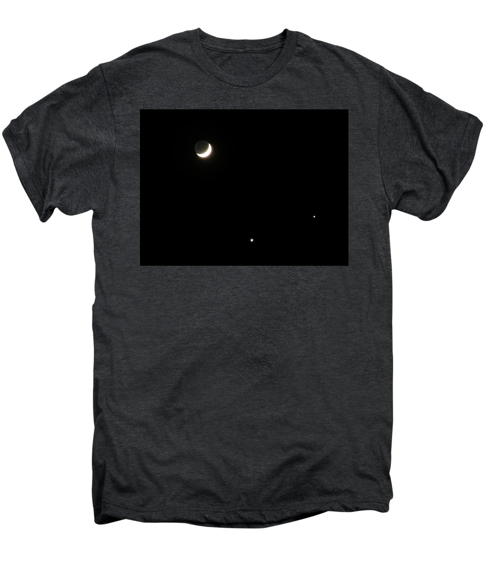 Moon Men's Premium T-Shirt featuring the photograph The Moon And Stars by Gale Cochran-Smith