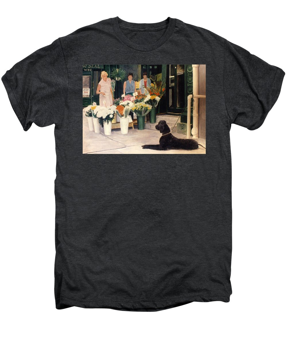 Mums Men's Premium T-Shirt featuring the painting The New Deal by Steve Karol