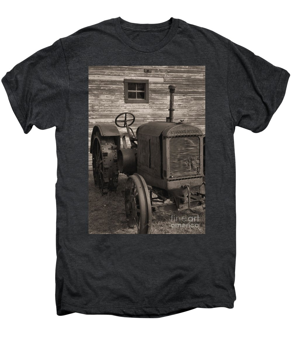 Abandoned Men's Premium T-Shirt featuring the photograph The Old Mule by Richard Rizzo