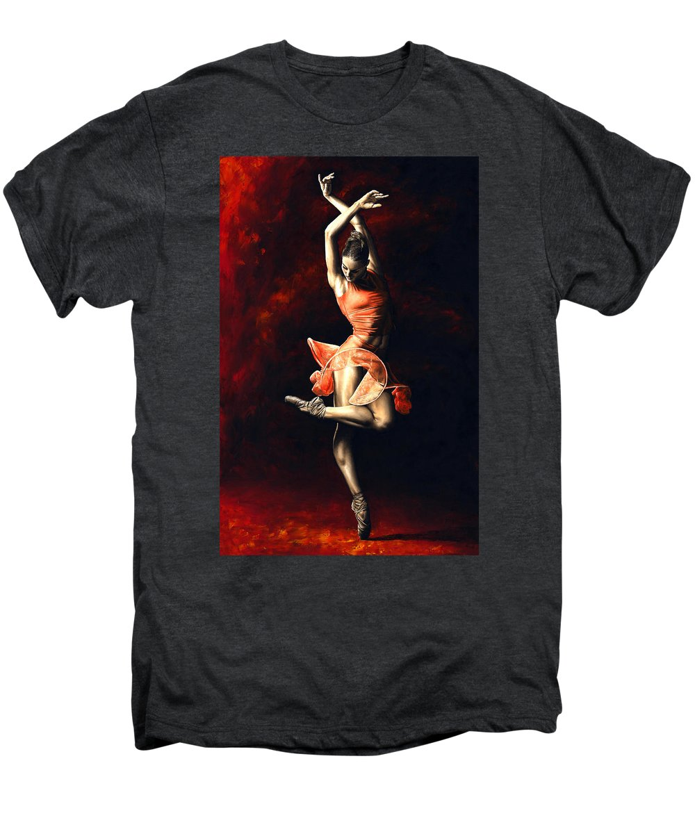 Dancer Men's Premium T-Shirt featuring the painting The Passion Of Dance by Richard Young