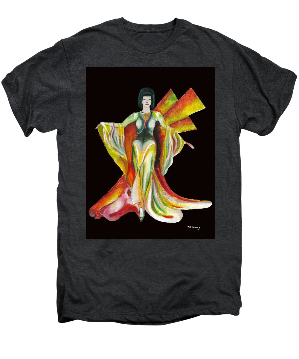 Dresses Men's Premium T-Shirt featuring the painting The Phoenix 2 by Tom Conway