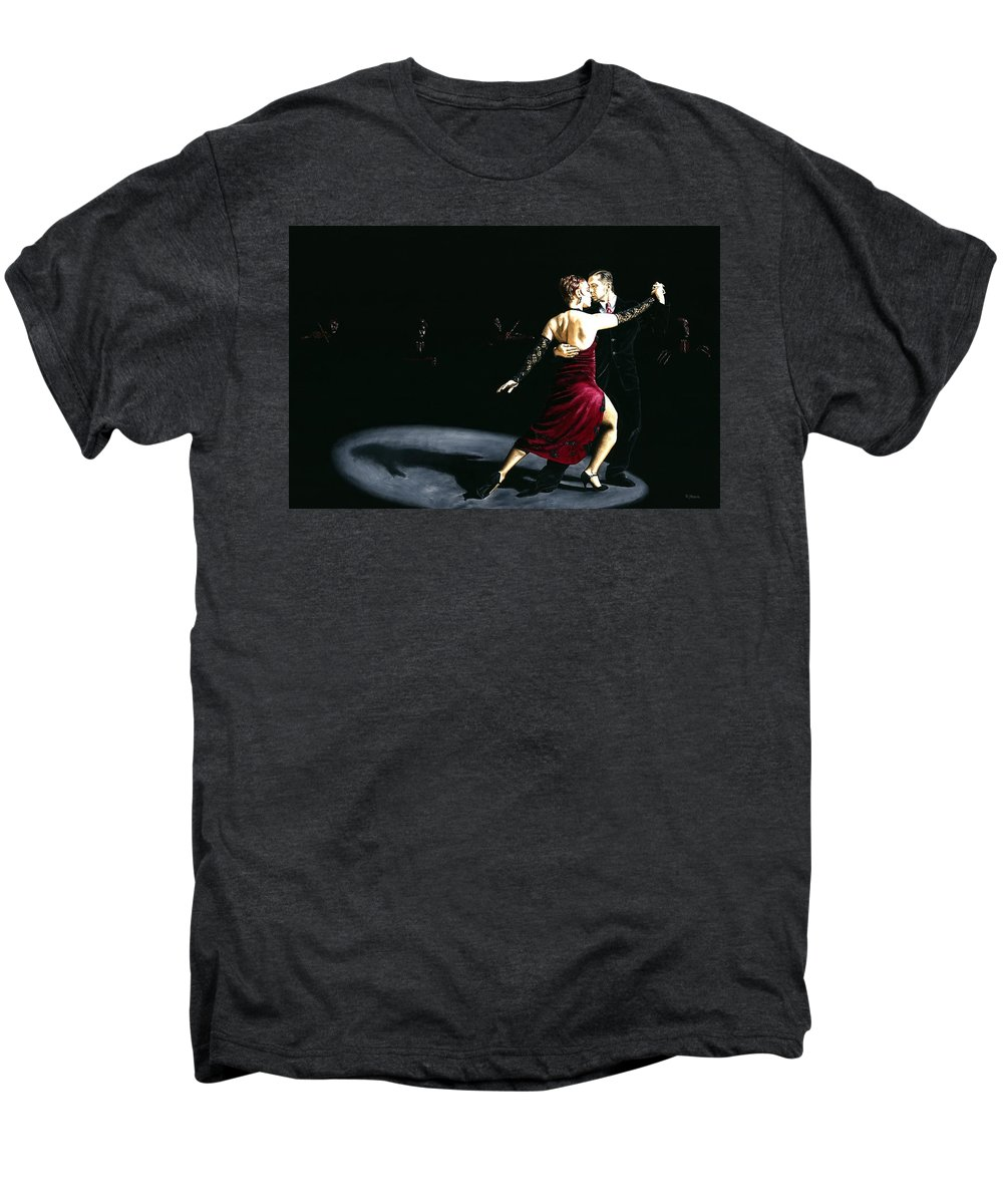 Tango Men's Premium T-Shirt featuring the painting The Rhythm Of Tango by Richard Young