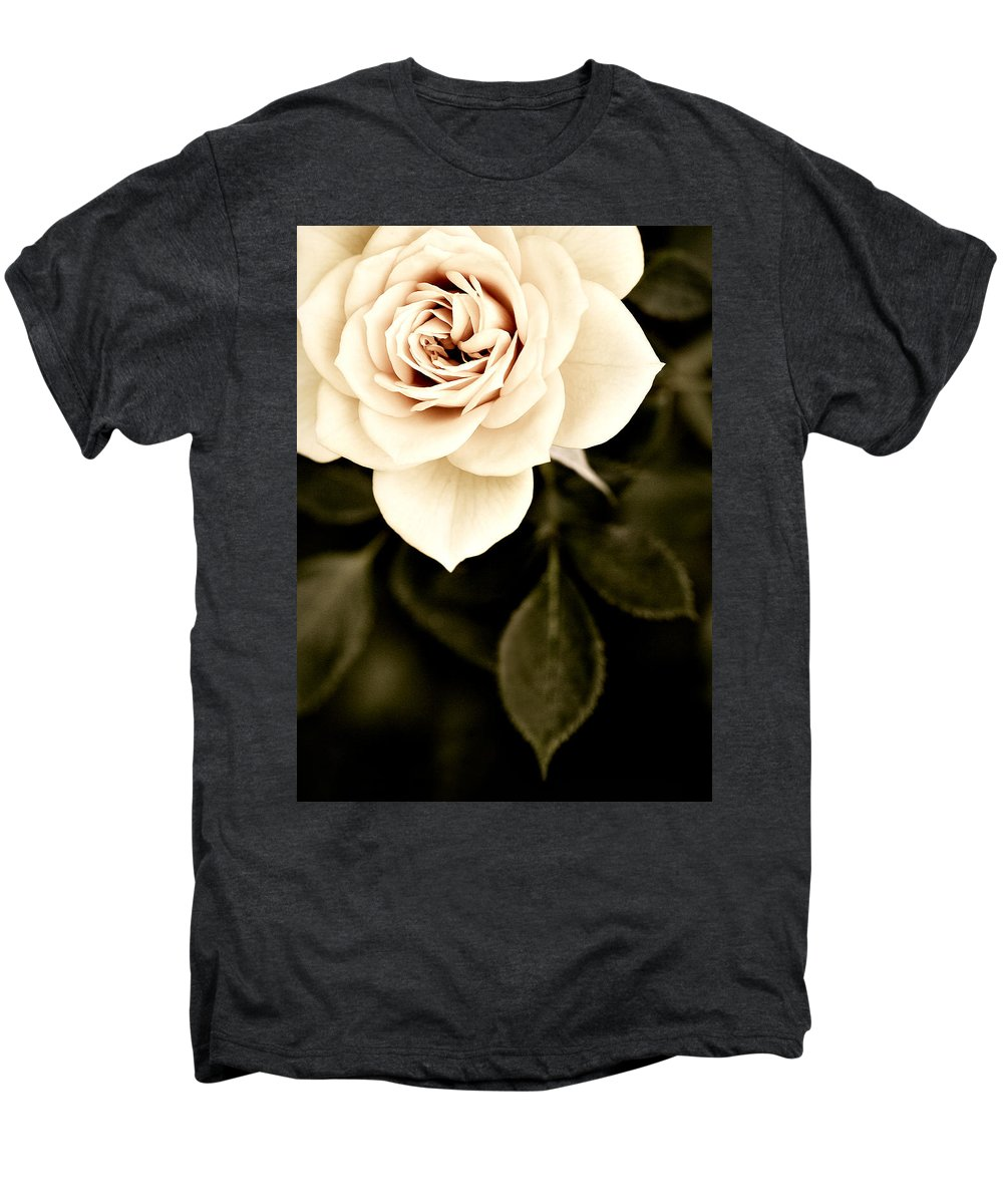 Rose Men's Premium T-Shirt featuring the photograph The Softest Rose by Marilyn Hunt