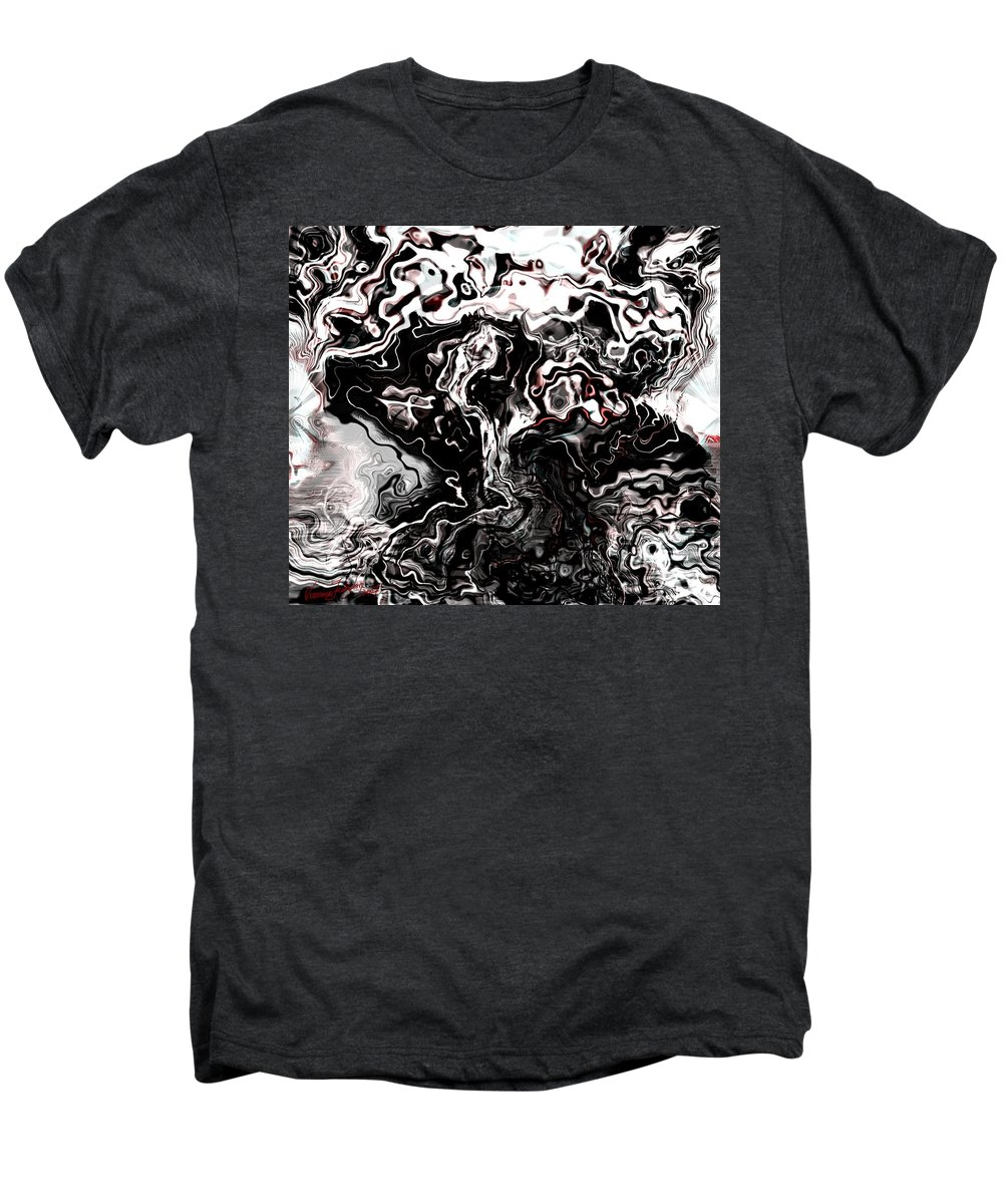 Storm Wind Clouds Nature Wind Men's Premium T-Shirt featuring the digital art The Storm by Veronica Jackson