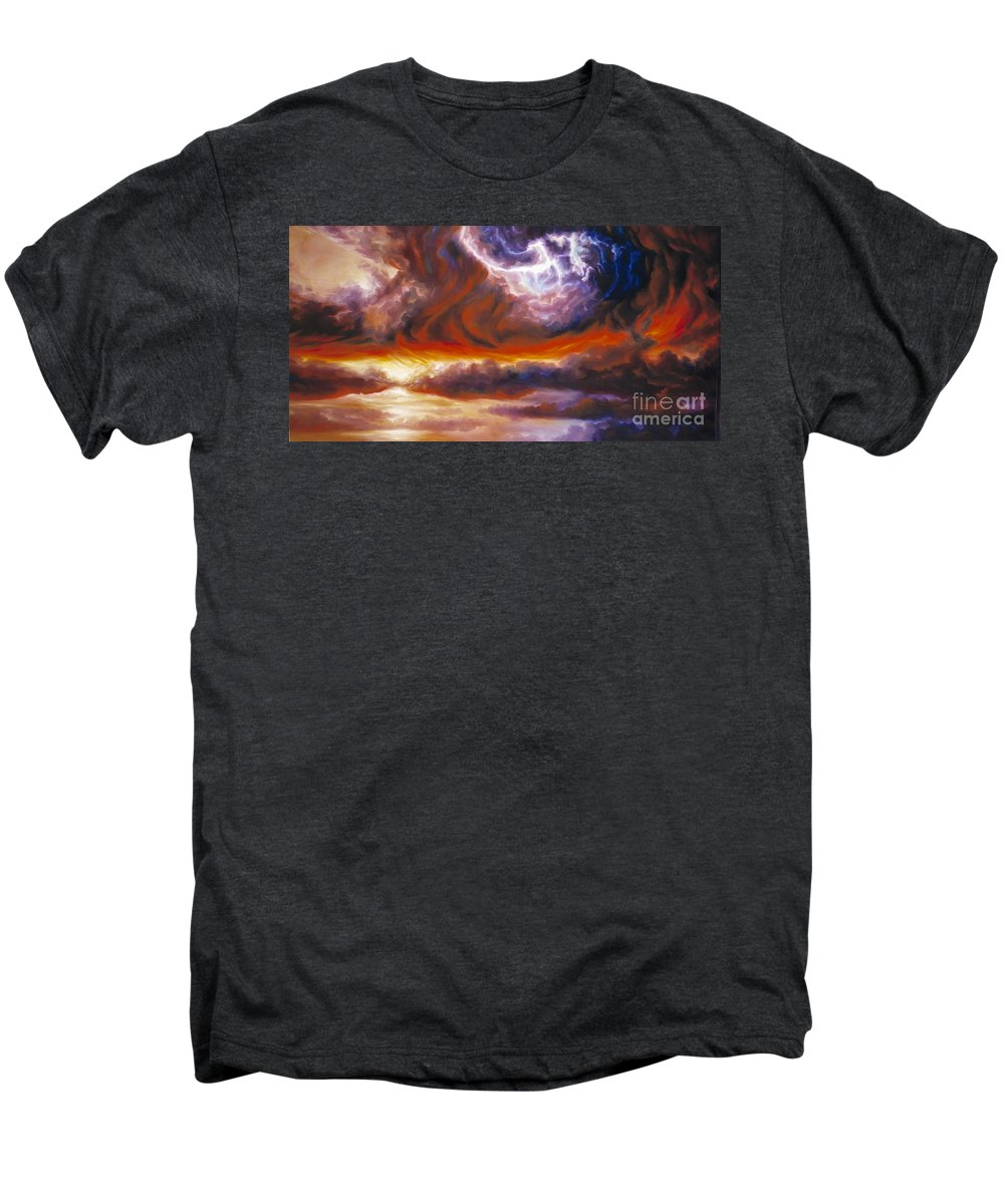 Tempest Men's Premium T-Shirt featuring the painting The Tempest by James Christopher Hill