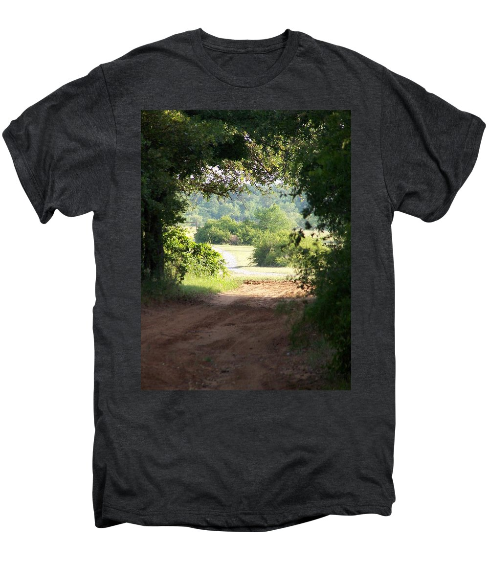 Woods Men's Premium T-Shirt featuring the photograph Through The Woods by Gale Cochran-Smith